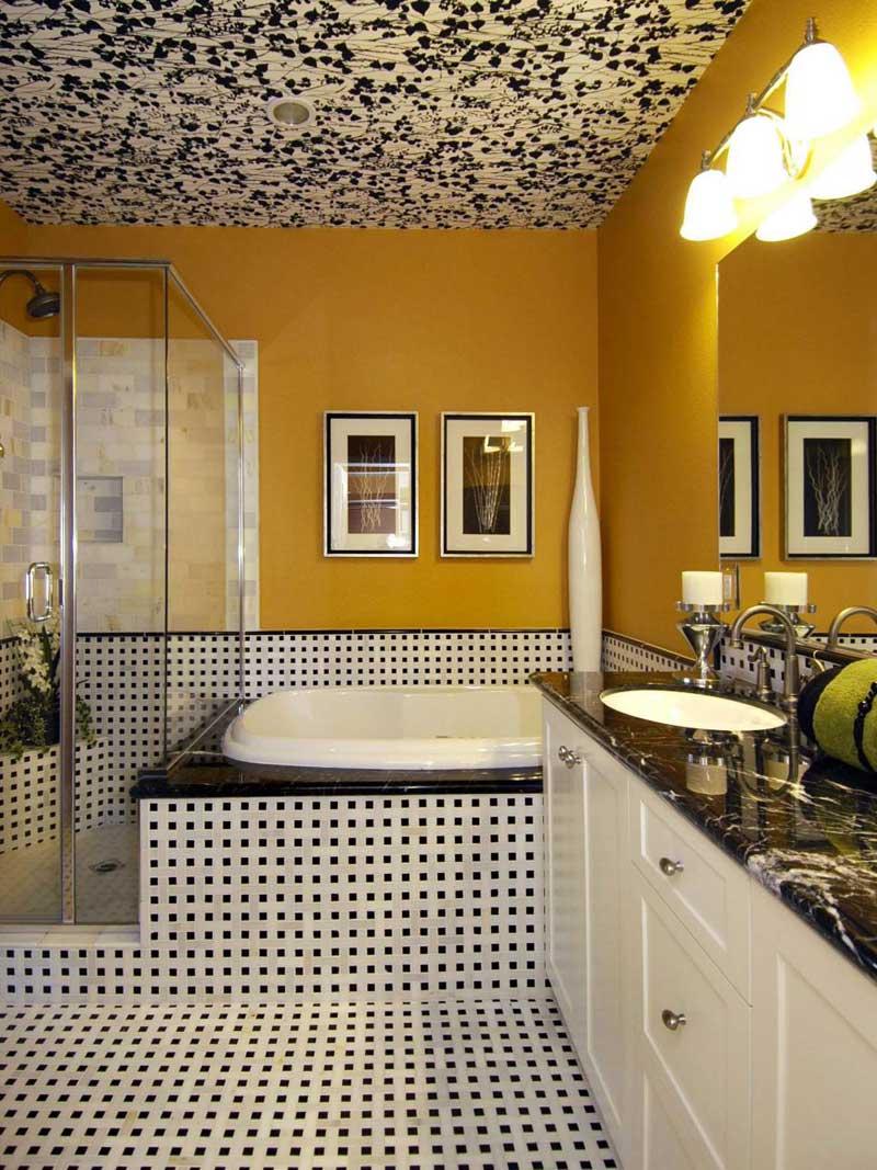 Art Deco Bathroom With Unique