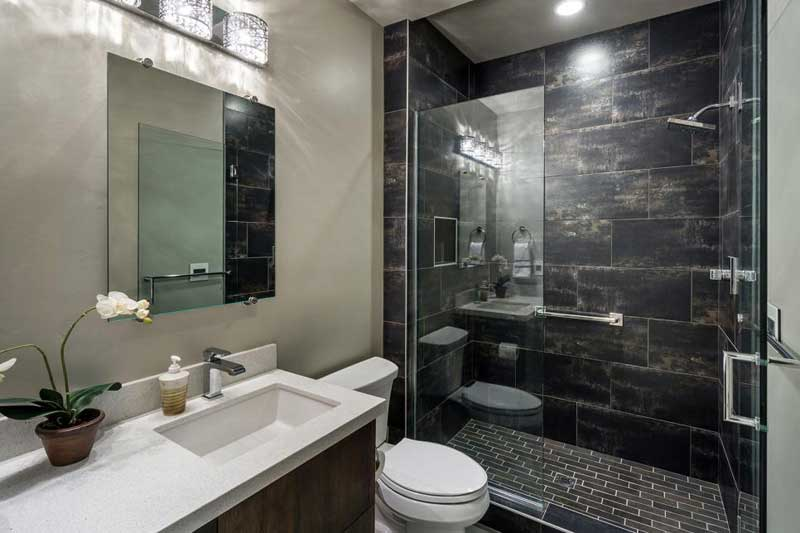 dark tiles in bathroom 50 modern small bathroom design ideas homeluf 18055
