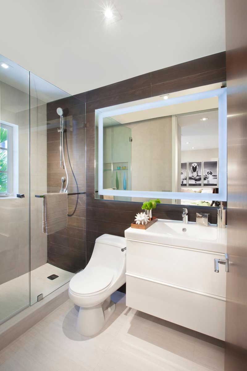 50 Modern Small Bathroom Design Ideas - Homeluf.com on Modern Small Bathrooms  id=77484