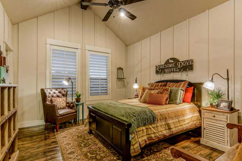 Country Bedroom with Board And Batten Walls