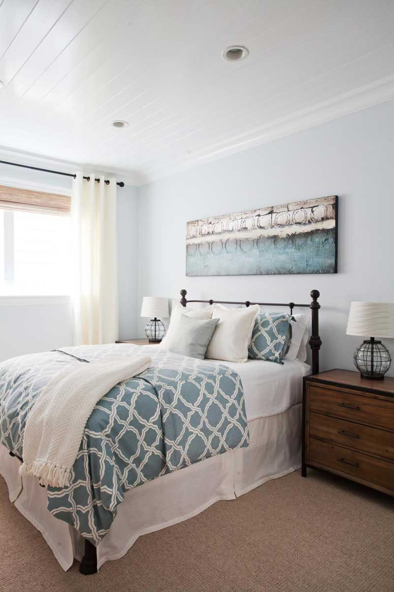 Country Bedroom with Soft Blue Walls