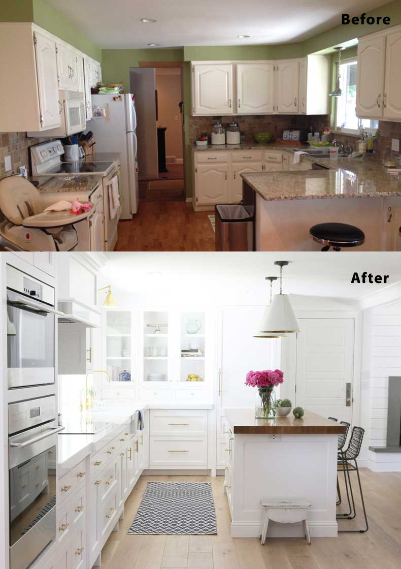 75 kitchen design and remodelling ideas before and after for Kitchen remodel ideas before and after