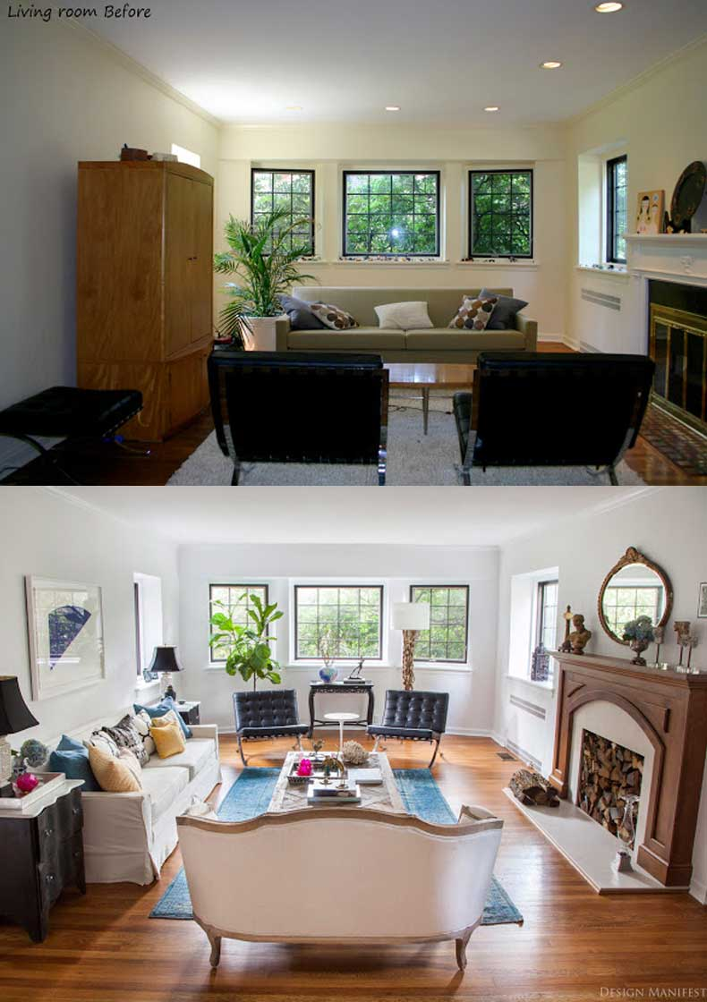 Living Room Remodels Before and After 10