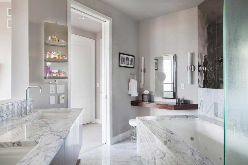 Modern Bathroom With Luxurious Marble