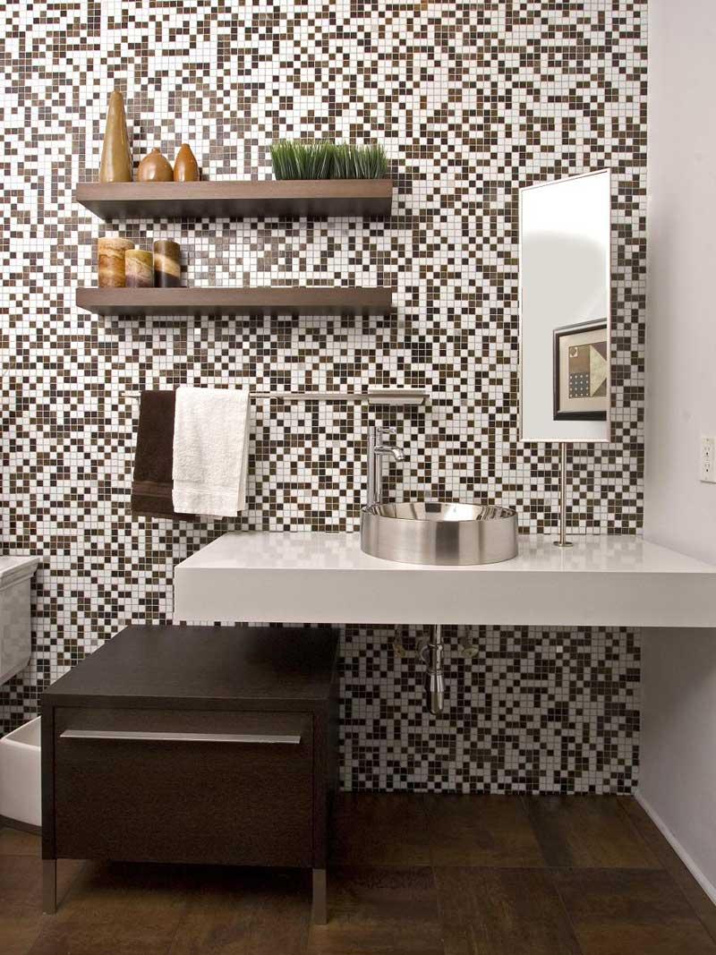 Modern Bathroom with Mosaic Tile