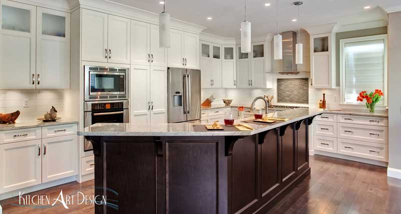 Painted Colonial Kitchen