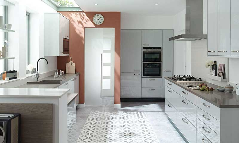Porter Dove Grey Modern Kitchen