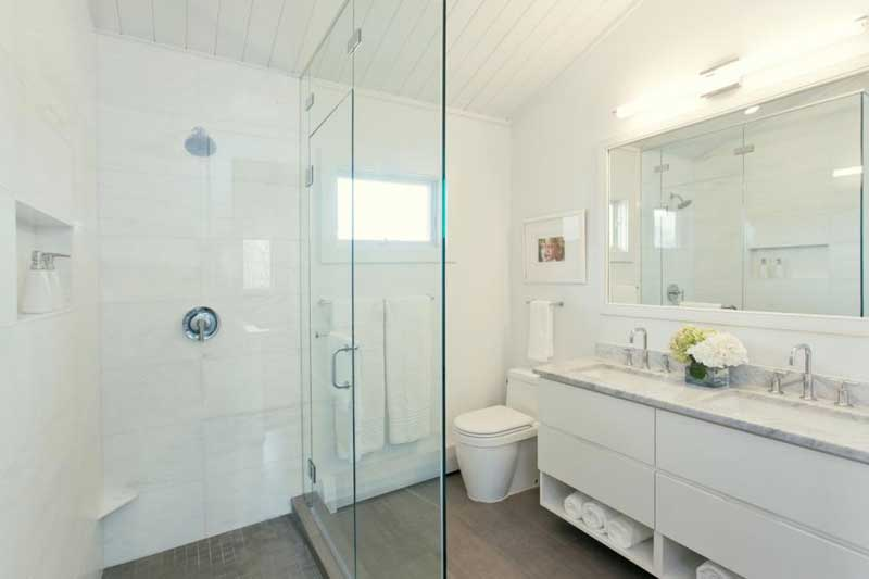 Small Bathroom with Glass Shower