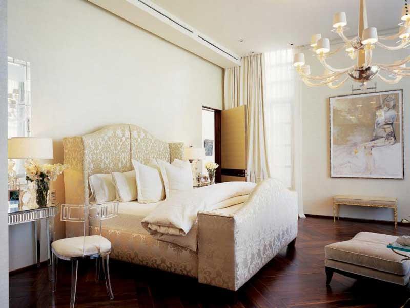 Victorian Bedroom with Chandelier