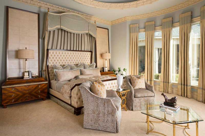 Victorian Bedroom with Seating Area