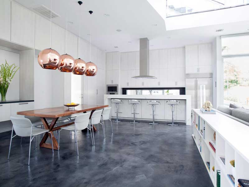 White and Gray Kitchen Design