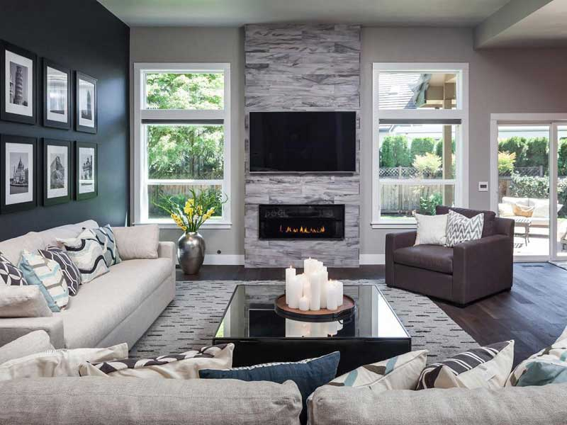 Gray Modern Living Room