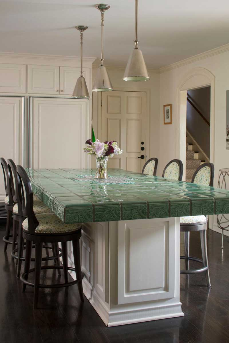 Green Tile Countertop