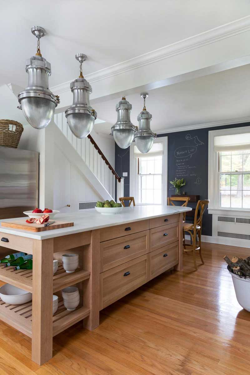Industrial Kitchen Island With Pendant Lights