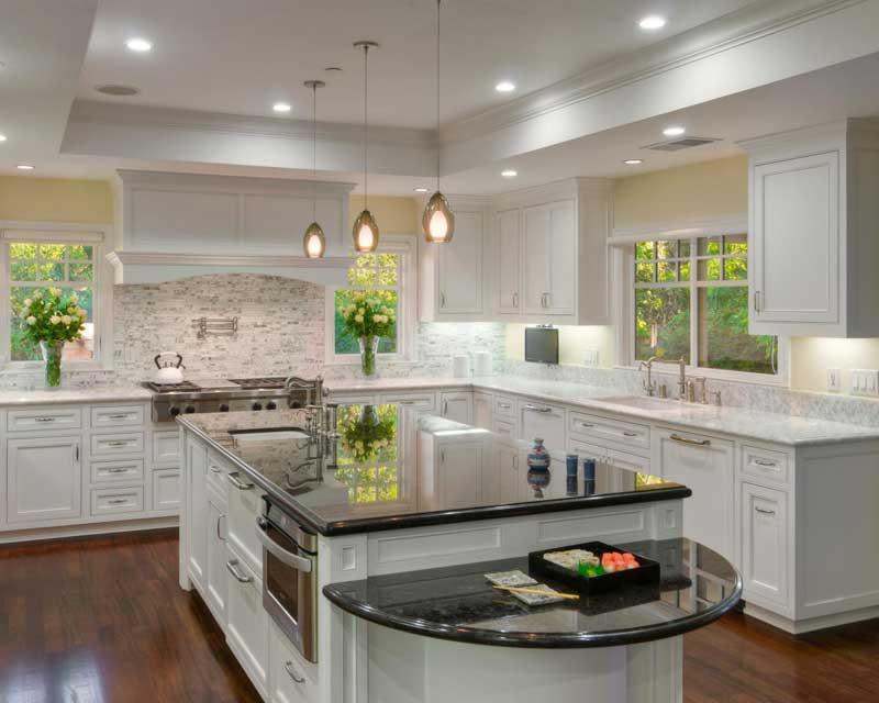 Kitchen Island With Dark Granite