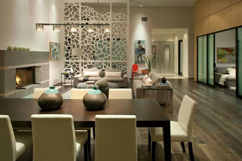 Modern Living Room and Dining Area