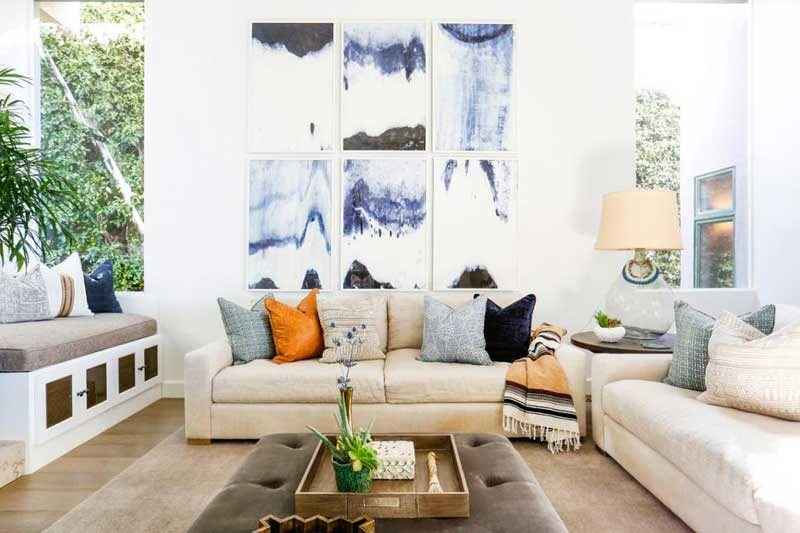 Neutral Living Room With Linen Couch