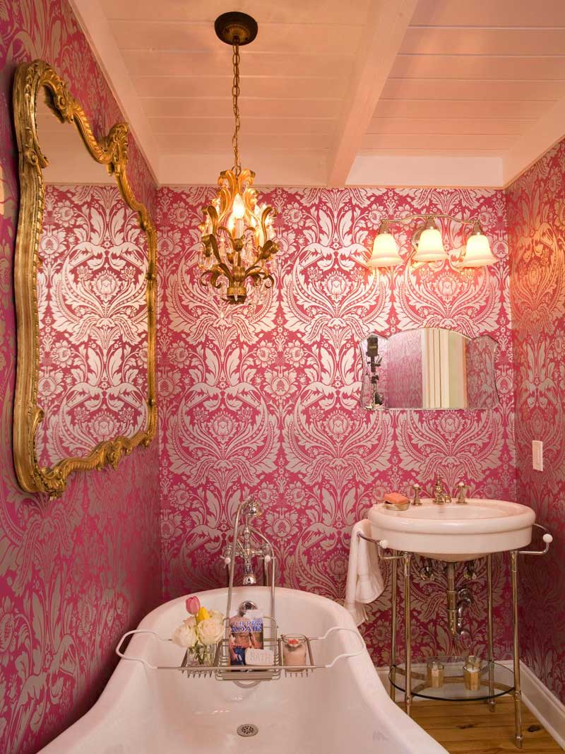 Ornate Pink Wallpaper