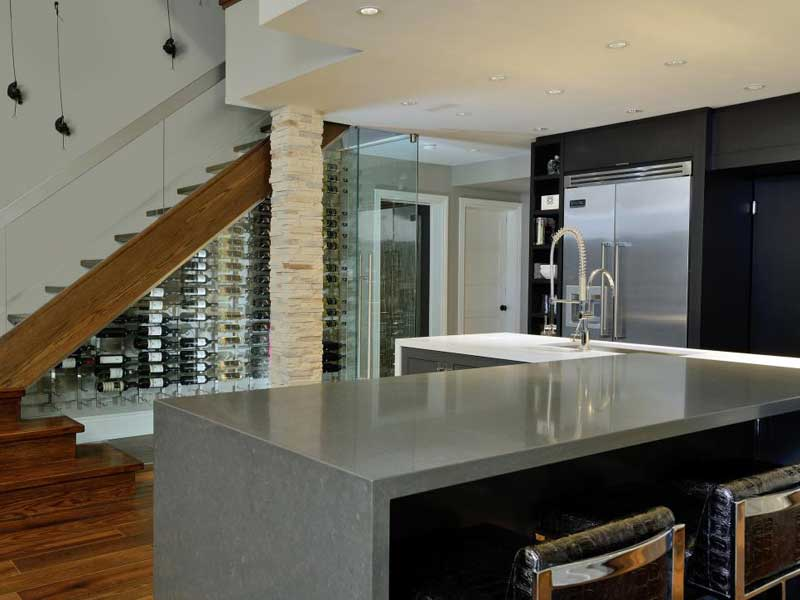 Sleek Waterfall Countertop