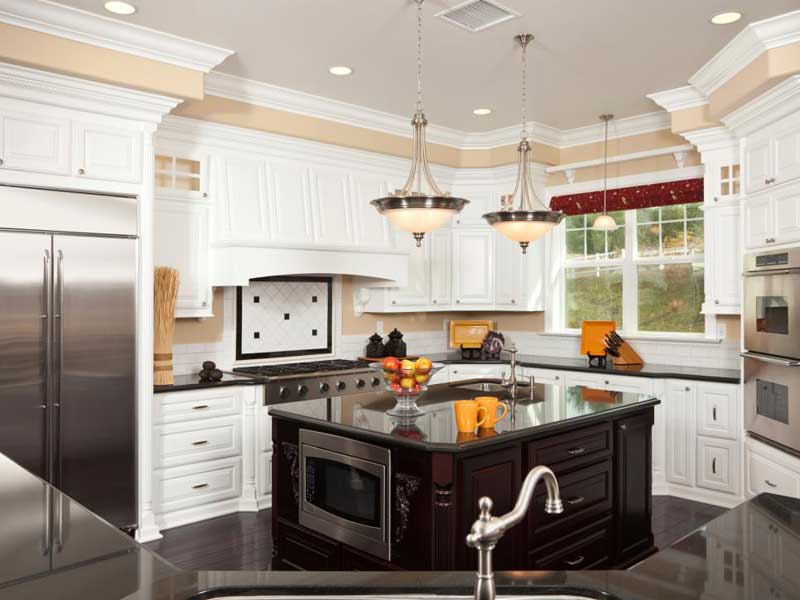 Small Kitchen Island With Sink and Microwave