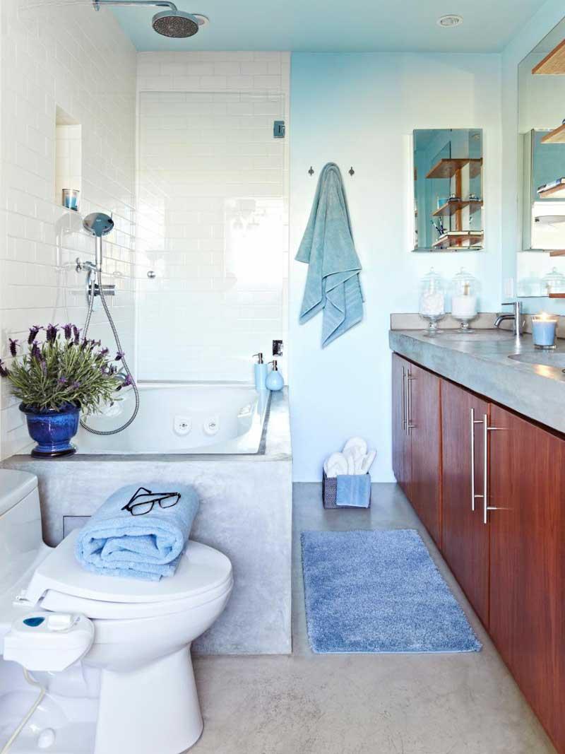 Bathroom with White Subway Tile