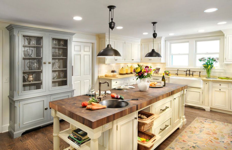 50 gorgeous kitchen island design ideas - Small butcher block island ...