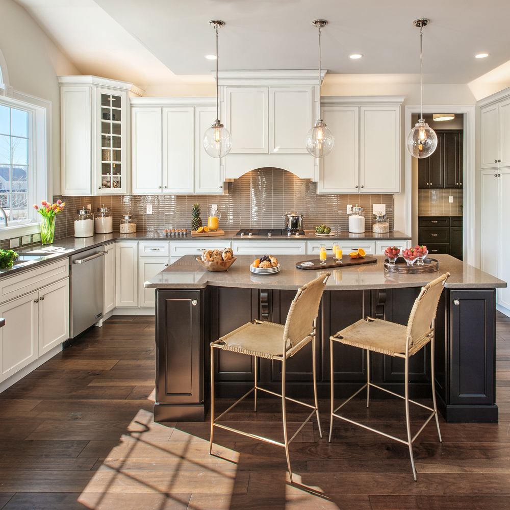 white kitchen with brown glass tile backsplash kitchen with clear