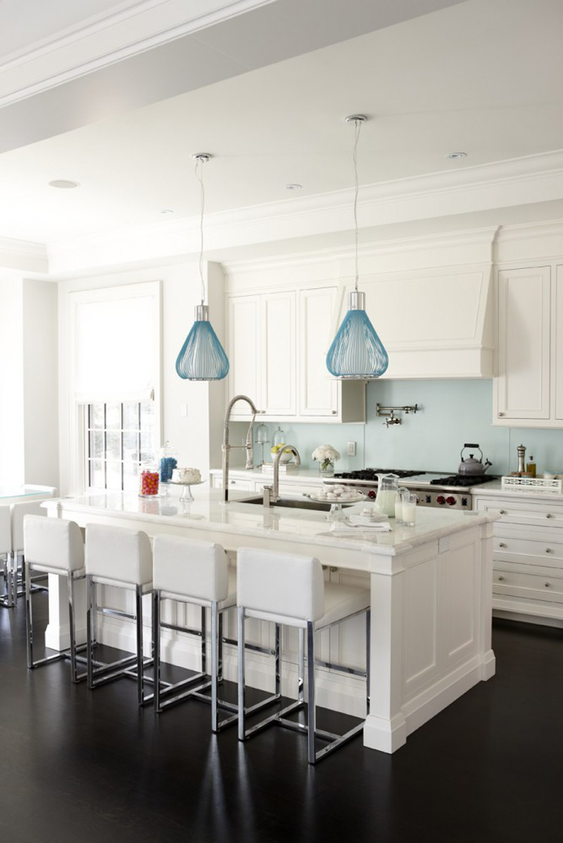 200 beautiful white kitchen timeless kitchen design with for Modern island pendant lighting