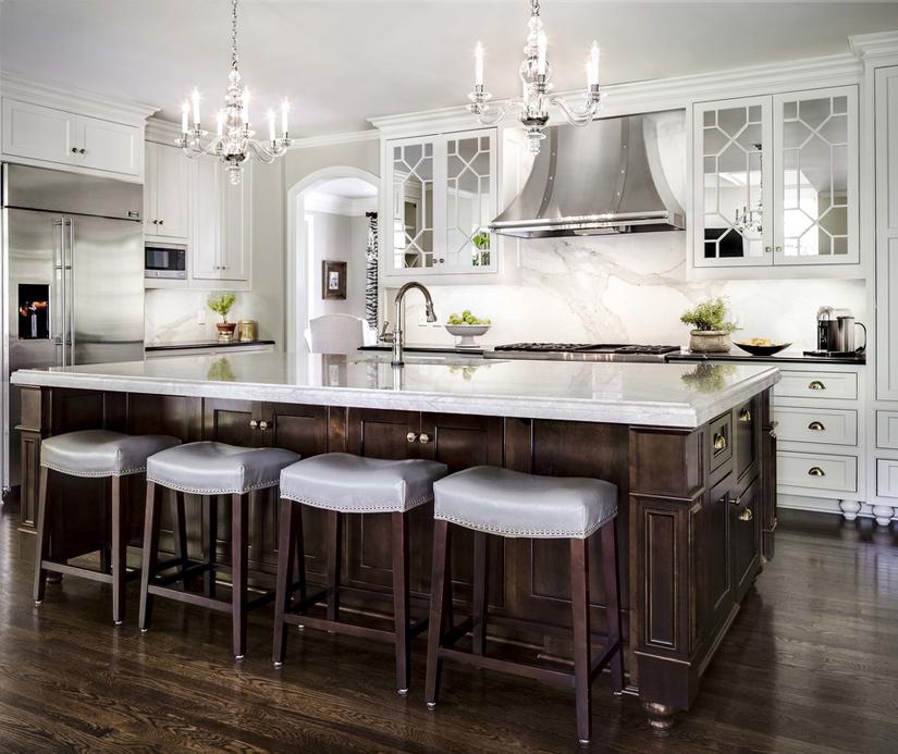 Midnight Blue Kitchen Island: 200 Beautiful White Kitchen Design Ideas