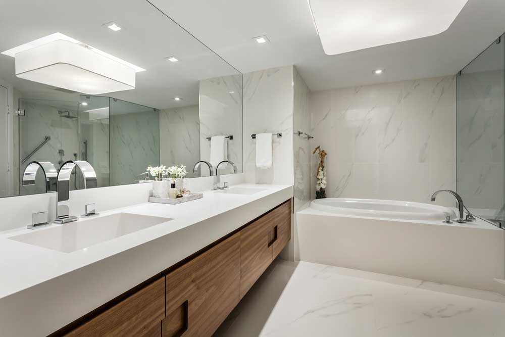 bathroom with led ceiling light fixtures