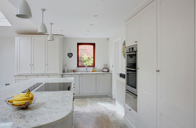 Colonial white granite honed