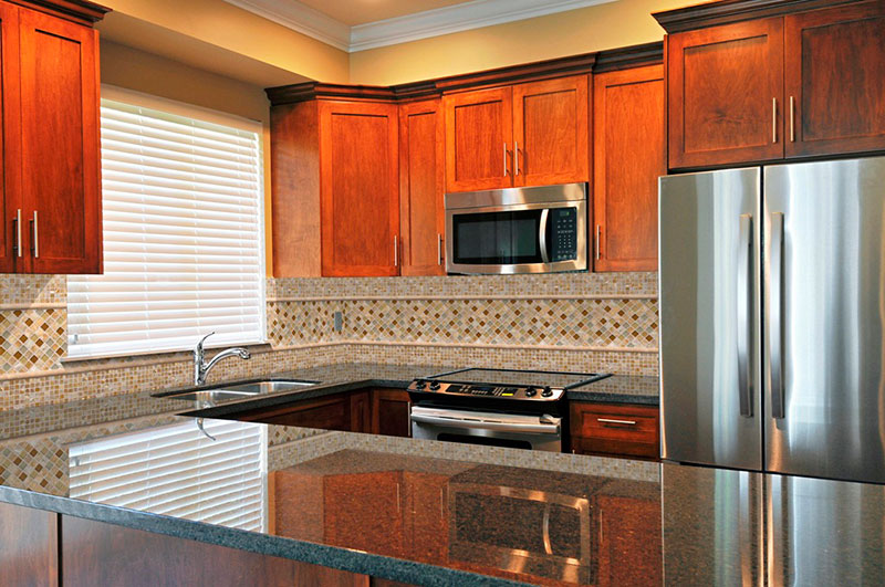 Uba Tuba granite on modern kitchen