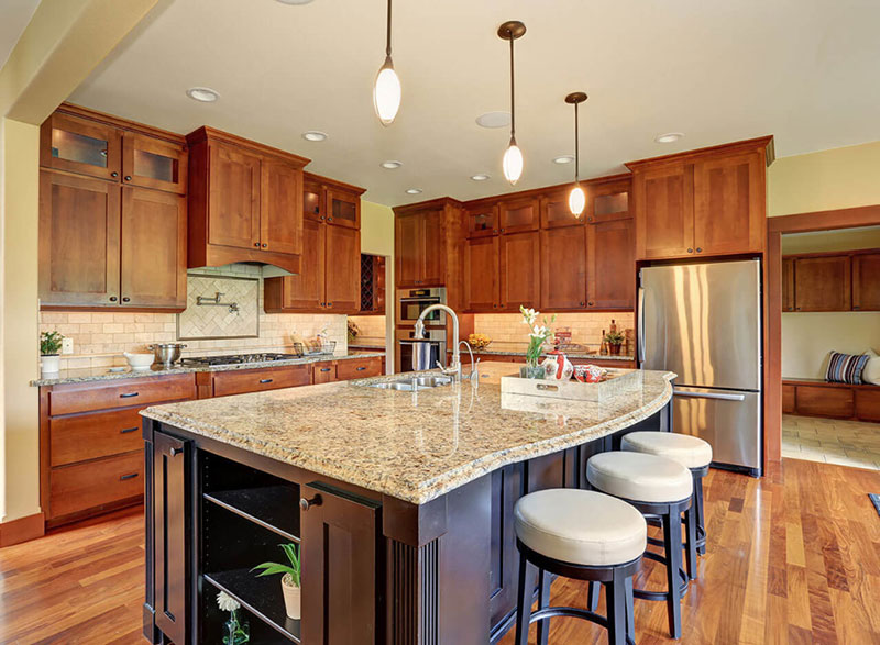 New venetian gold granite countertops elegance gold granite - Kitchen counter decoration ...