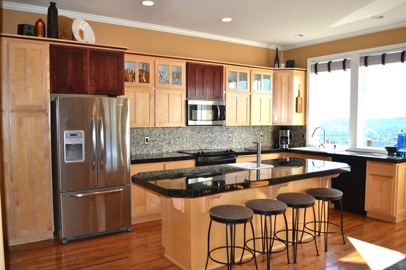 27 Best Black Pearl Granite Countertops Design Ideas on Natural Maple Cabinets With Black Granite Countertops  id=12145