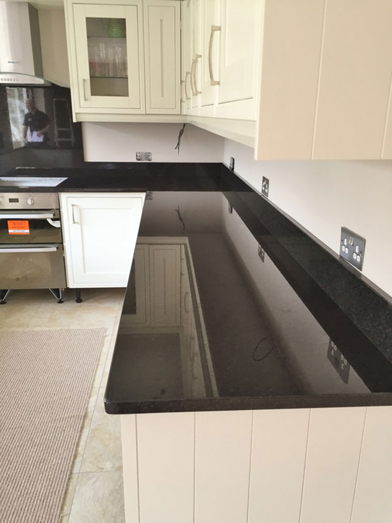 New black pearl granite countertops