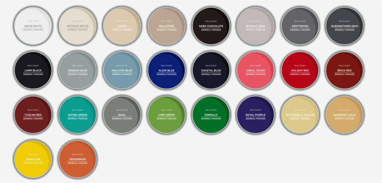 General Finishes Milk Paint Colors