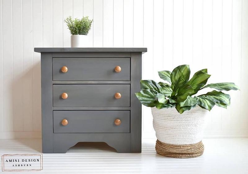 02 Gray wood stain dresser