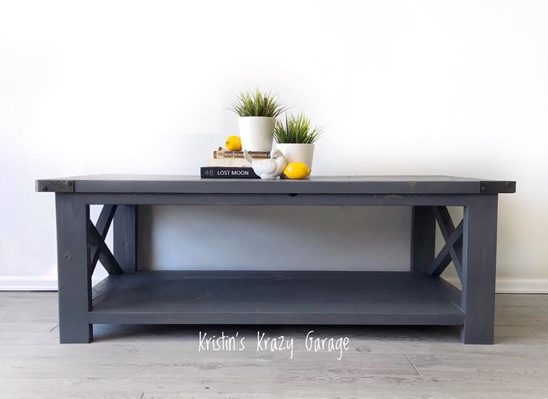 03 Rustic Farmhouse Table Gray Stain