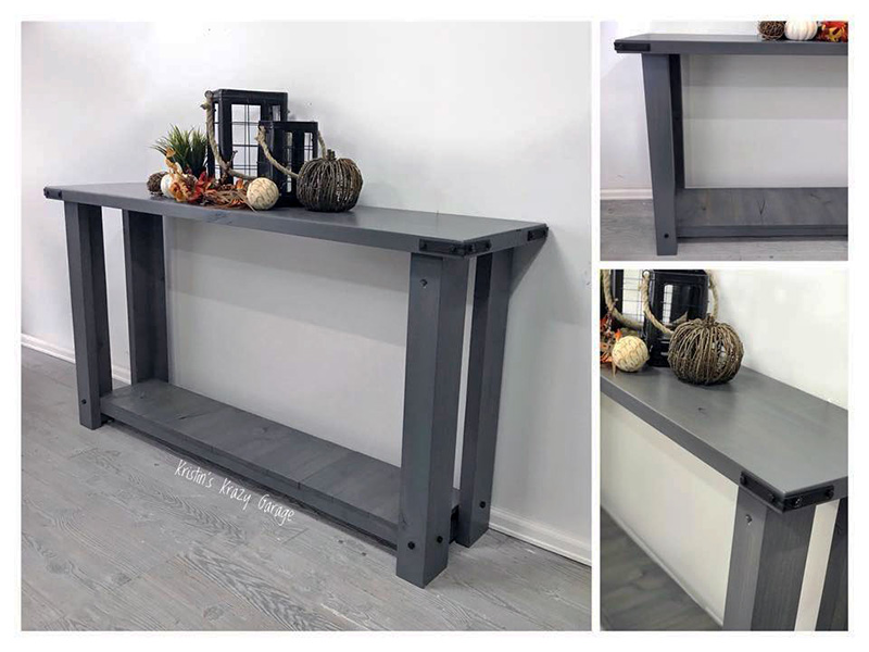 06 Gray wood stain console table