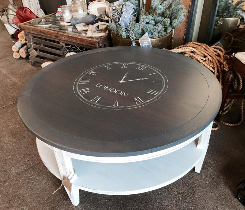 09 Gray wood stain coffee table