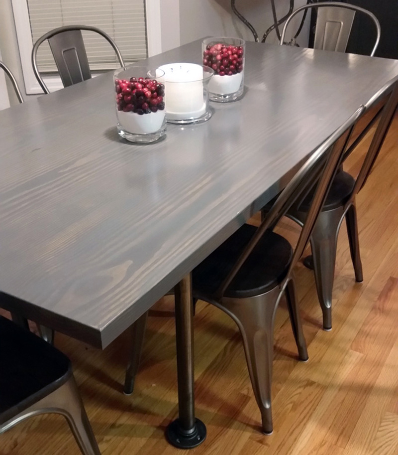 10 Gray wood stain on pine wood table