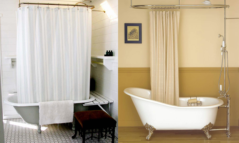 10 Best Shower Curtain for Clawfoot Tubs   Homeluf.com