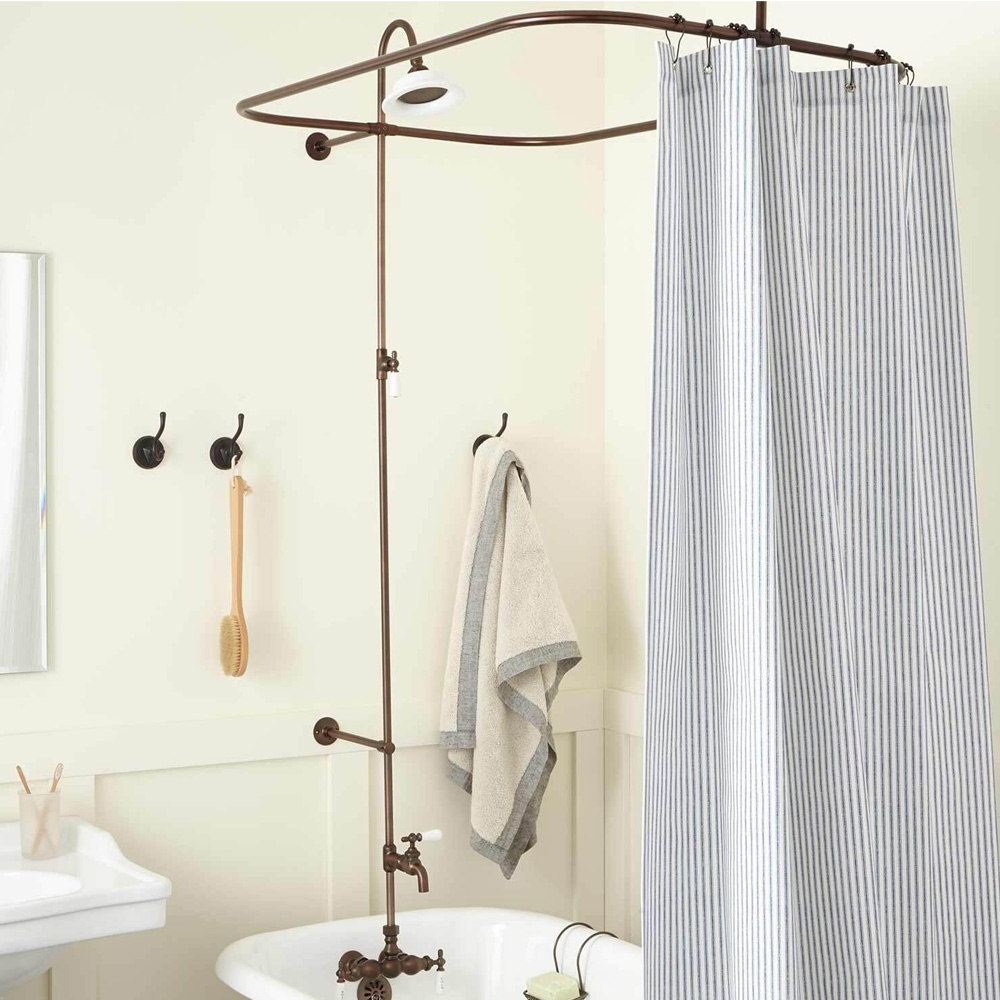 Best Clawfoot Tub Shower Curtain Rods