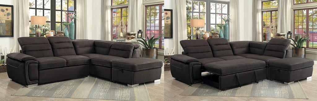 Homelegance Platina Sectional Sleeper Sofa