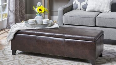 Rectangular Leather Ottoman Coffee Tables