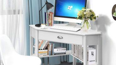 White Corner Desks for Small Spaces