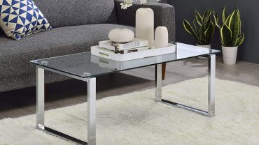 Glass and Chrome Coffee Tables