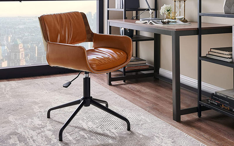 Office Chair Without Wheels, Modern Home Office Chair No Wheels