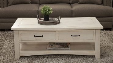 Coffee Table With Shelf And Drawers